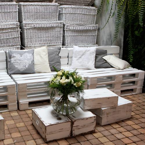 Palet blanco decoraci n palets - Mesas de pale ...