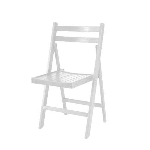 Silla madera blanca mobiliario sillas for Silla madera blanca