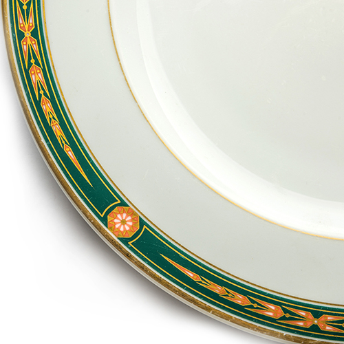 Tableware Decorated in Green