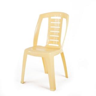 Yellow resin chair