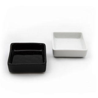 White miniature dish
