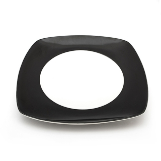 Black band square plate