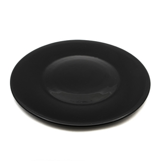 Black glass plate