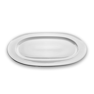 White oval dish
