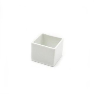Little white square cup