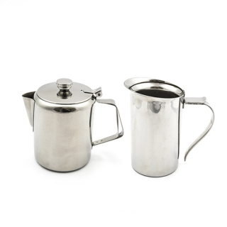 Steel coffee pots and jugs