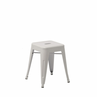 Low white Fabrik stool