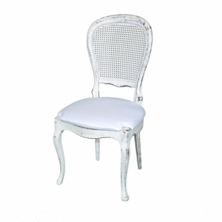 Vintage pickled white chair