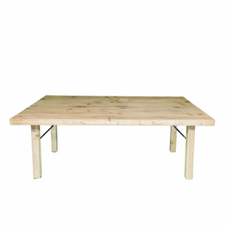 Wood table 2 meters