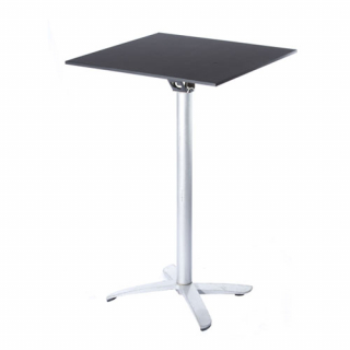 Tall black square table