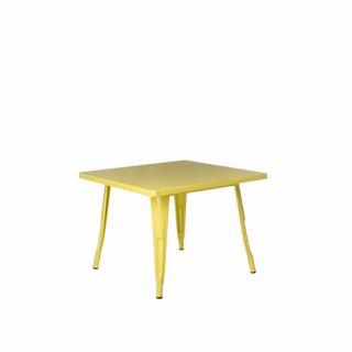 Yellow low Fabrik table