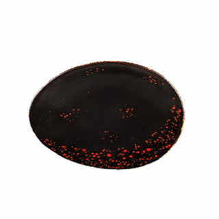 Irregular black-red Oxi dish