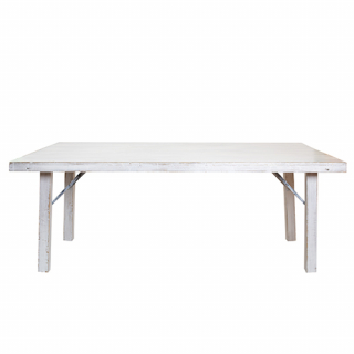 White pickled Wood table