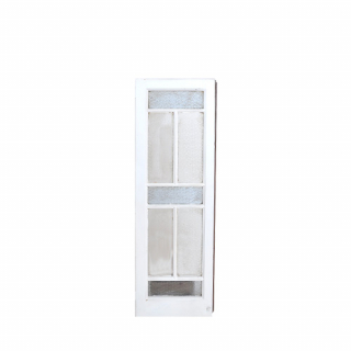White-wengue glass window