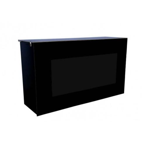 Barra mostrador con frontal negro mobiliario y otros - Mostradores de bar ...