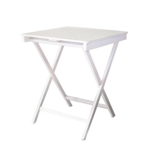 Mesa cuadrada madera blanca mobiliario y otros art culos for Mesa cuadrada blanca
