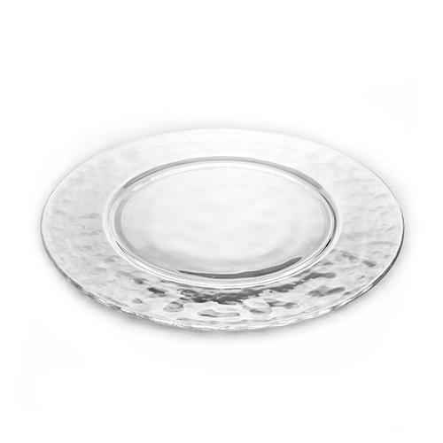 Plato cristal redondo ala alquiler de vajillas otros platos - Vajillas de cristal ...