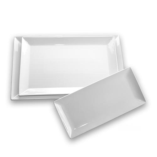Vajillas blancas vajillas cuadradas modernas vajilla de for Vajillas blancas modernas